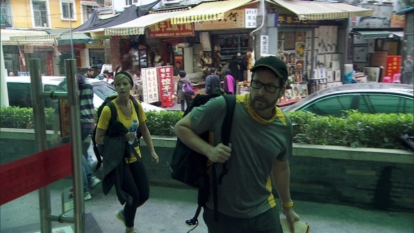 Ashley and Burnie navigating through Shenzhen, China