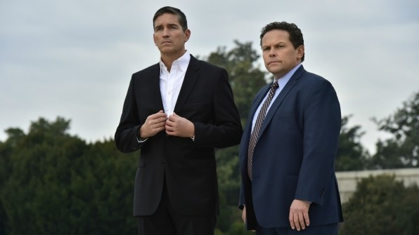 Jim Caviezel as Reese and Kevin Chapman as Fusco