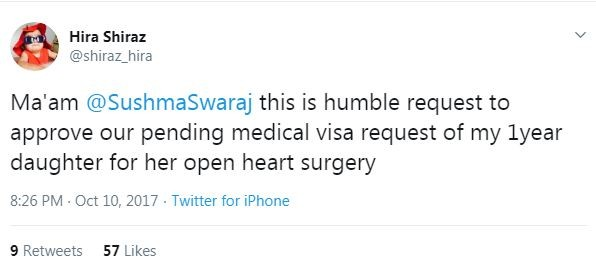 sushma swaraj tweet 1