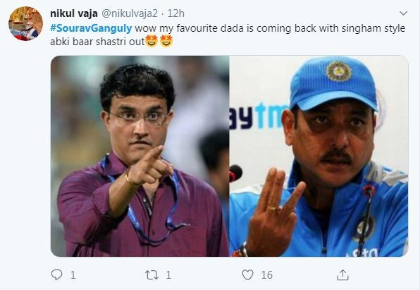 Sourav Ganguly Tweet