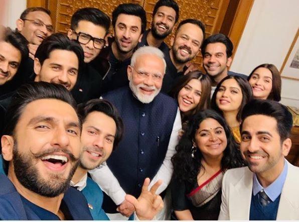 Karan Johar selfie with PM Modi