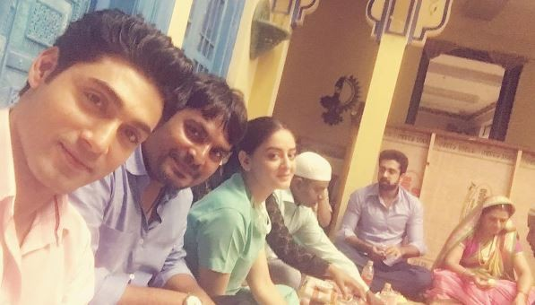 "TV actors celebrate Iftaar party on sets of their shows. Pictured: ""Balika Vadhu"" cast celebrates Iftaar party on sets."