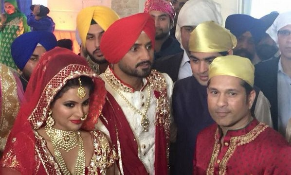 Harbhajan Singh,Harbhajan Singh Wedding,Harbhajan Singh Wedding pictures,Harbhajan Singh marriage,Harbhajan Singh marriage pics,Harbhajan Singh and Geeta Basra,sachin