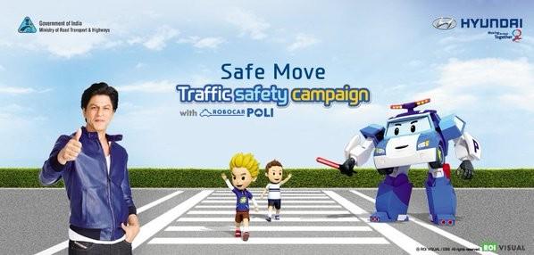Shahrukh Khan,Shahrukh Khan launches traffic safety campaign,Safe Move - Traffic Safety Campaign,Traffic Safety Campaign,Safe Move,SRK,Hyundai Motor