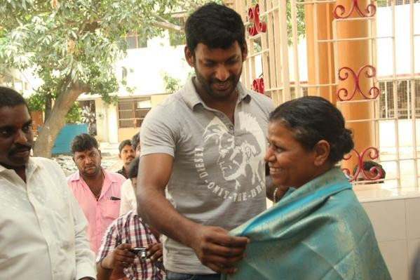 Vishal at Mercy Home, Kilpauk on Mother's Day 2015
