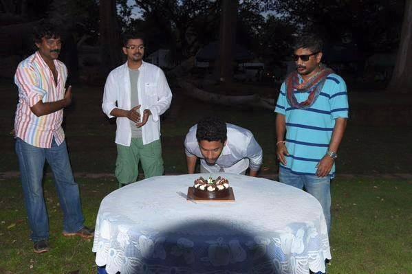 Puli Shooting Spot,Shibu Thameens Birthday celebrations,puli shooting spot vijay,puli shooting spot stills,puli shooting spot images,puli shooting spot pics,puli vijay,vijay puli,vijay puli images,vijay puli photos,vijay puli stills