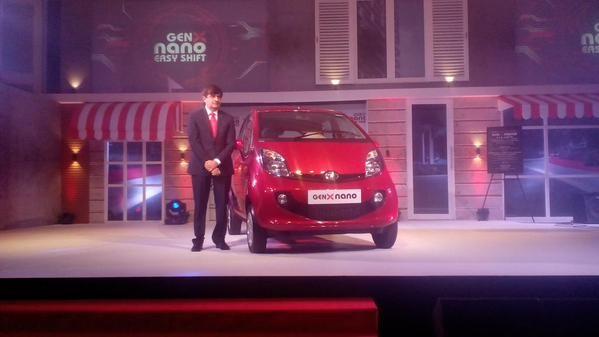 Tata Motors launches GenX Nano Car,GenX Nano Car,GenX Nano,nano car,Tata Motors,GenX Nano Easy Shift,Nano GenX AMT,Nano genX AMT price,nano genX AMT pics,nano genX AMT images,nano genX AMT photos,nano genX AMT stills