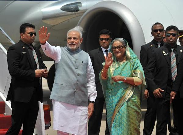 Prime Minister Narendra Modi arrives Bangladesh,Narendra Modi arrives Bangladesh,Narendra Modi arrives Dhaka,modi in dhaka,Narendra Modi,Modi arrives Bangladesh,Bangladesh PM Sheikh Hasina,Sheikh Hasina