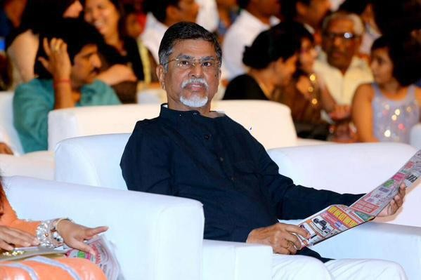 Vijay's father SA Chandrasekhar at Puli Audio Launch,SA Chandrasekhar at Puli Audio Launch,Vijay's father SA Chandrasekhar,SA Chandrasekhar,Puli Audio Launch,Puli Music Launch