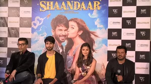 Shaandaar Trailer Launch,Shaandaar,Shahid Kapoor,Alia Bhatt,Shaandaar Trailer Launch pics,Shaandaar Trailer Launch images,Shaandaar Trailer Launch photos,Shaandaar Trailer Launch stills,Shaandaar Trailer Launch Pictures