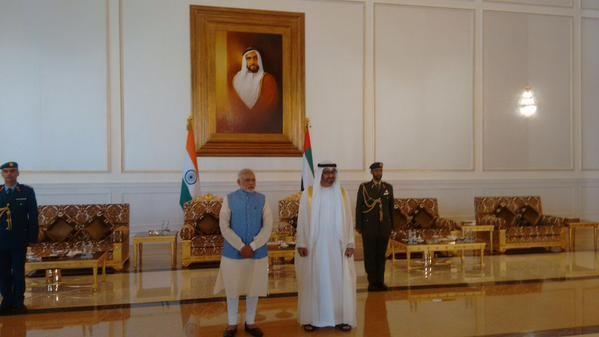 Prime Minister Narendra Modi arrives in Abu Dhabi,Prime Minister Narendra Modi,Narendra Modi arrives in Abu Dhabi,Narendra Modi,Modi in UAE,Narendra Modi in UAE
