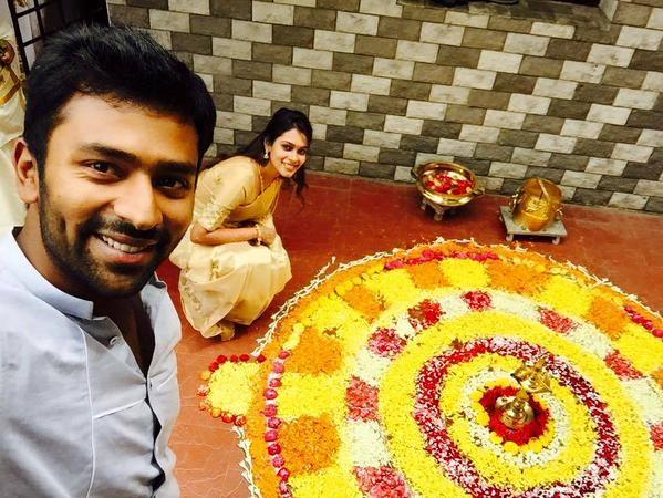 Shanthanu and Keerthi,Shanthanu Celebrates Onam,Keerthi Celebrates Onam,Shanthanu and Keerthi Celebrates Onam,Onam,Onam Celebration