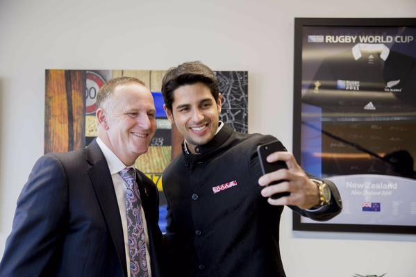 Sidharth Malhotra,Sidharth Malhotra meets New Zealand's Prime Minister John Key,Sidharth Malhotra meets John Key,New Zealand's Prime Minister John Key,Prime Minister John Key,Sidharth Malhotra latest pics,Sidharth Malhotra latest images,Sidharth