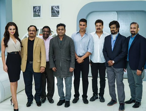 Enthiran 2,Enthiran 2 launched,Enthiran 2 launch photos,Akshay Kumar,Rajinikanth,Akshay kumar,Akshay kumar rajinikanth