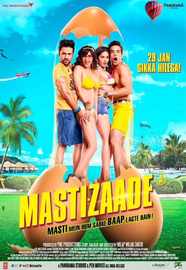 Sunny Leone,Tusshar Kapoor,Vir Das,Mastizaade,Mastizaade movie poster,Mastizaade poster,sunny leone mastizaade,sunny leone Mastizaade poster,adult comedy film