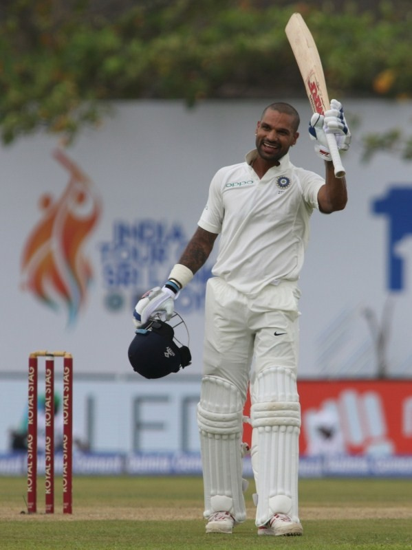 Shikhar Dhawan,India vs Sri Lanka 1st Test,India vs Sri Lanka,India vs Sri Lanka 1st Test Day 1,Shikhar Dhawan missed  double century,Shikhar Dhawan century,India vs Sri Lanka 2017,india vs sri lanka live streaming