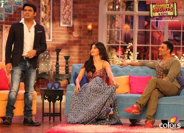Akshay Kumar,comedy nights with kapil,shruti haasan,Kapil sharma,Gabbar Is Back,photo