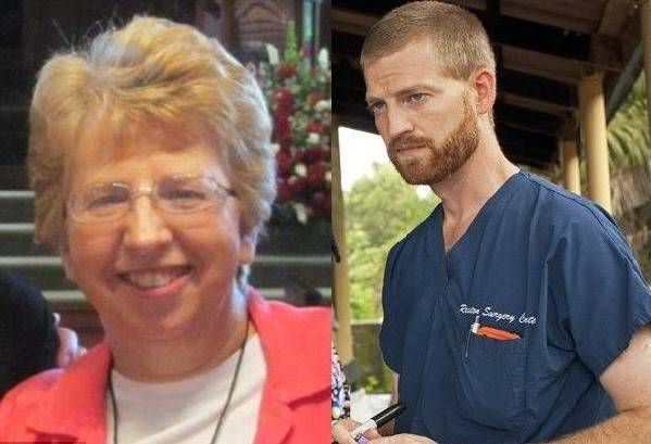 Nancy Writebol and Dr Kent Brantly