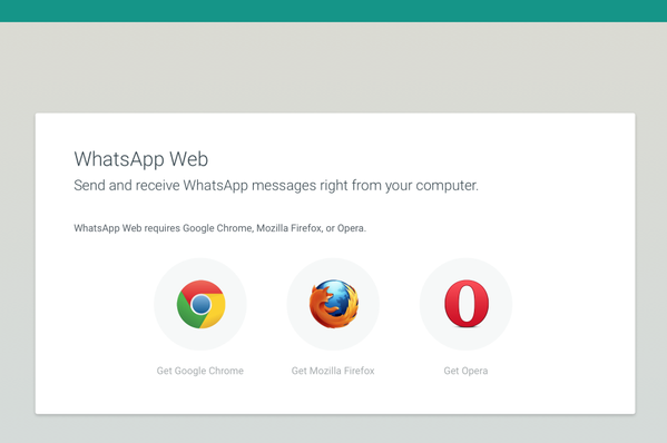 WhatsApp For Web Now Supports Firefox, Opera Browsers