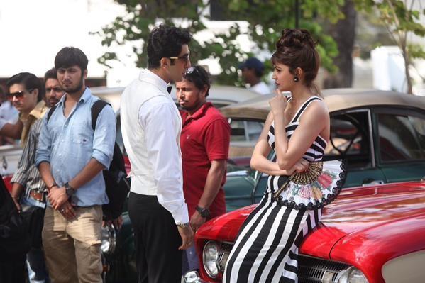 On-the-sets of 'Bombay Velvet'