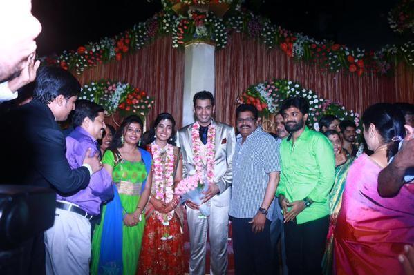 KS Ravikumar at Arulnidhi's Wedding Reception