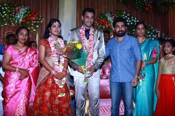 Arun Vijay at Arulnidhi's Wedding Reception