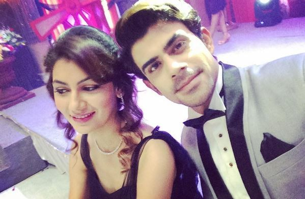 """Kumkum Bhagya"" actor Ankit Mohan quits show. Pictured: Ankit Mohan (on the right) with ""Kumkum Bhagya"" lead actress Sriti Jha."