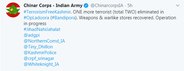 indian army twitter handle