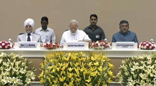 PM Modi, CJI Khehar and Ravi Shankar Prasad