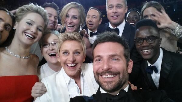 Ellen's Oscar Selfie went viral and it broke twitter record