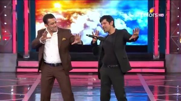 Salman Khan with Vikram
