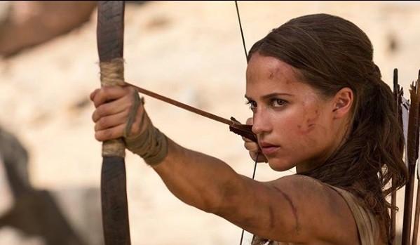 Alicia Vikander as Lara Croft in the upcoming 'Tomb Raider' movie