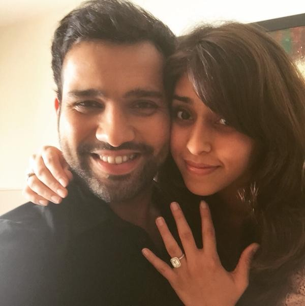 Rohit sharma,rohit sharma engaged,rohit sharma finacee,Ritika Sajdeh,Ritika Sajdeh photos,rohit sharma girlfriend photos