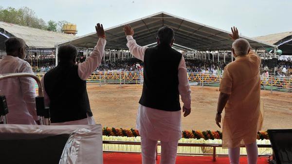 PM Shri Narendra Modi at the Public Meeting at Dantewada