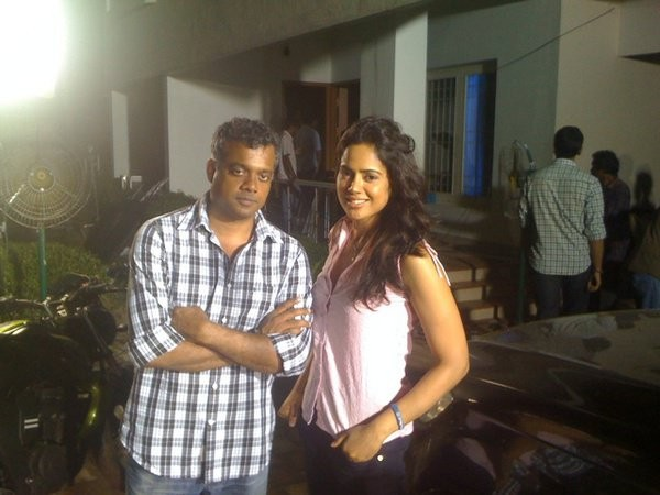 Sameera Reddy with Gautam Menon