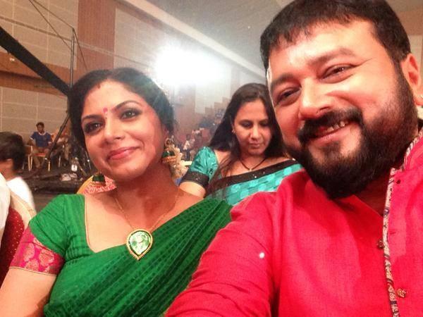 Asha Sharath and Jayaram
