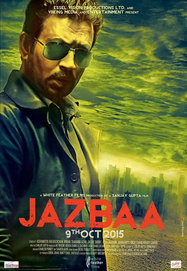 Irrfan Khan first look from the upcoming Movie Jazbaa