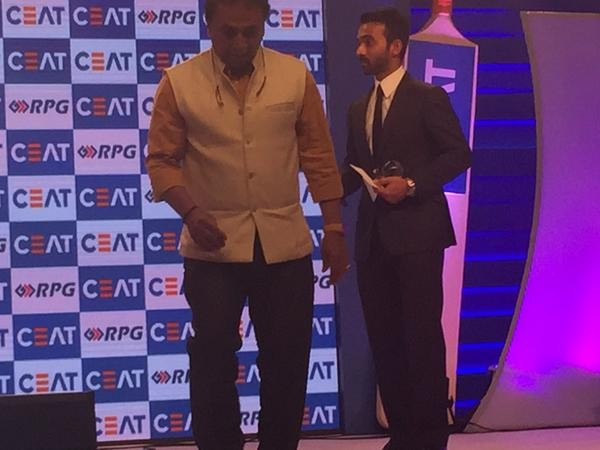 Ajinkya Rahane wins CEAT Indian Cricketer of the Year award,Ajinkya Rahane,cricket player Ajinkya Rahane,Ajinkya Rahane wins CEAT award,Ajinkya Rahane wins Indian Cricketer of the Year award,Ajinkya Rahane pics,Ajinkya Rahane images,Ajinkya Rahane photos