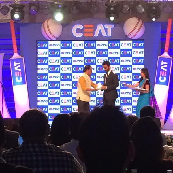 Ajinkya Rahane wins CEAT Indian Cricketer of the Year award,Ajinkya Rahane,cricket player Ajinkya Rahane,Ajinkya Rahane wins CEAT award,Ajinkya Rahane wins Indian Cricketer of the Year award,Ajinkya Rahane pics,Ajinkya Rahane images,Ajinkya Rahane photos