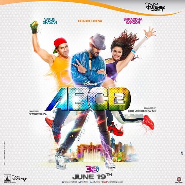 ABCD 2 Movie Poster,ABCD 2,bollywood movie abcd 2,ABCD 2 first look,Varun Dhawan,Shraddha Kapoor,Prabhu Deva,ABCD 2 movie pics,ABCD 2 movie images,ABCD 2 movie stills