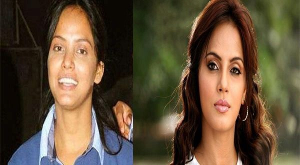 Neetu Chandra With and Without Make Up