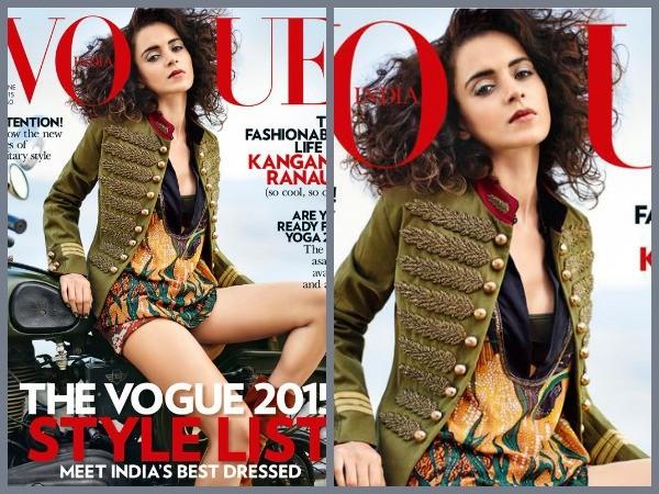 Kangana Ranaut Photoshoot for Vogue Magazine,Kangana Ranaut Flaunts Her Hot Body In Military Bikini,Kangana Ranaut In Military Bikini,Kangana Ranaut in Bikini,Kangana Ranaut Bikini pics,Kangana Ranaut Bikini images,Kangana Ranaut Bikini photoshoot,Kangana