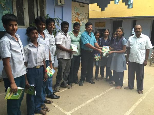 Superstar Rajinikanth fans provide free Notebooks for ...