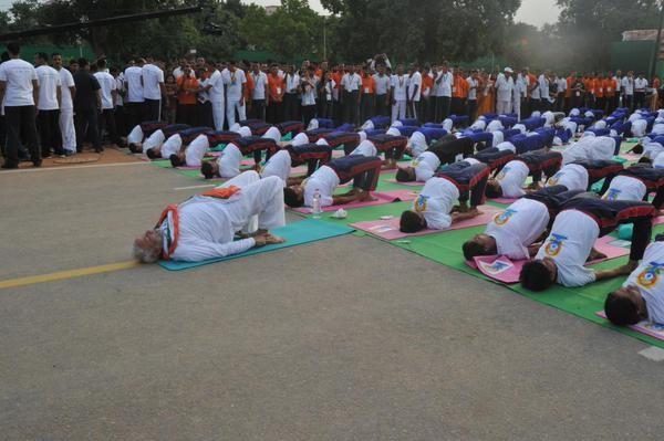 Narendra Modi,International Yoga Day Celebration,Narendra Modi at International Yoga Day Celebration photos,Narendra Modi Does Yogasana,Narendra Modi Yoga Postures pictures,Narendra Modi in different yoga Postures photos