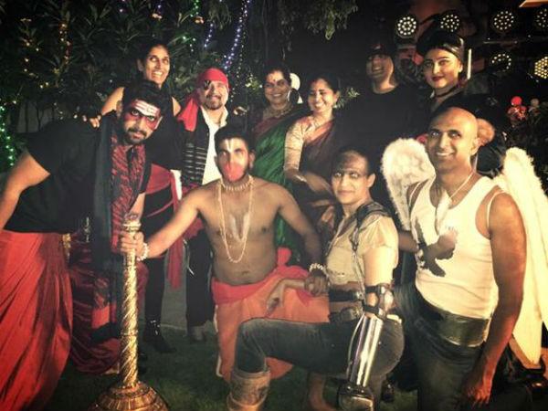 Baahubali,Baahubali Theme Party,Baahubali Theme Party pics,Baahubali Theme Party images,anushka shetty,rana daggubati,nani