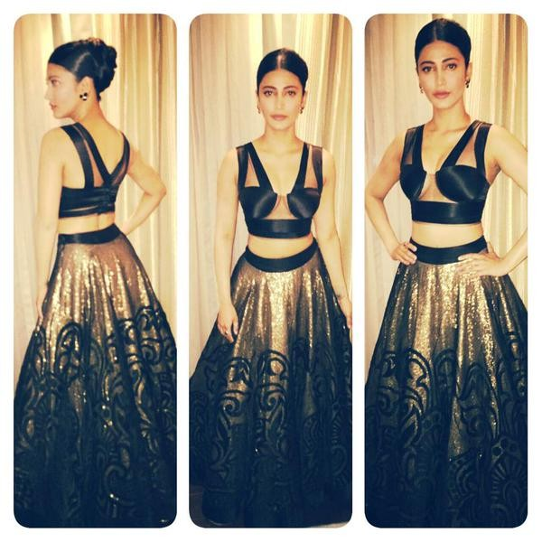 Shruthi Hassan,Shruthi Hassan at Filmfare Awards,Shruthi Hassan at 62nd Filmfare Awards South,Shruthi Hassan at Filmfare Awards South,62nd Filmfare Awards South,62nd Filmfare Awards South 2015,Filmfare Awards South,Filmfare Awards,Filmfare Awards 2015