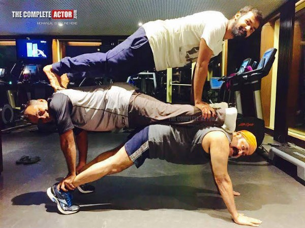 Mohanlal Workout pics,Mohanlal and Pranav's Workout,Mohanlal and Pranav's Workout pics,Mohanlal and Pranav's Workout Pics,Actor Mohanlal Workout Pics,Workout Pics,Pranav Workout Pics