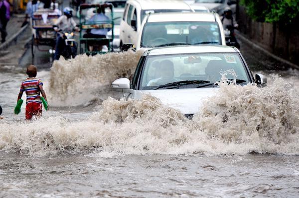 Image result for waterlogging in Delhi