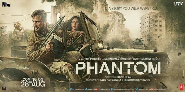Phantom Movie Poster,Phantom,Phantom first look,Phantom Movie Poster poster,Saif Ali Khan,Katrina Kaif,Saif Ali Khan and Katrina Kaif