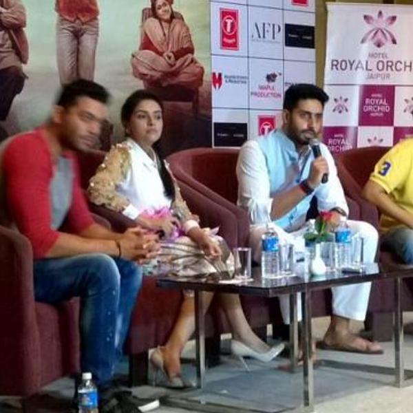 Abhishek Bachchan,Asin,Abhishek Bachchan and Asin at All is Well Press Meet,Abhishek Bachchan at All is Well Press Meet,Asin at All is Well Press Meet,Abhishek Bachchan and Asin,All is Well Press Meet,All is Well Press Meet pics,All is Well Press Meet ima